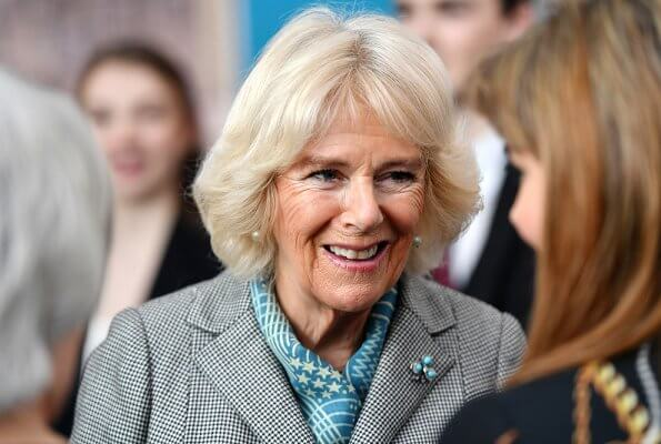 The Duchess of Cornwall visited Elmhurst Ballet School in Birmingham. Duchess of Cornwall visited the Launer Factory in West Midlands