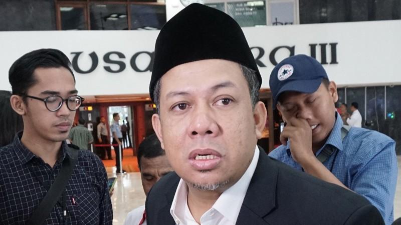 Fahri Hamzah di Gedung Nusantara III DPR