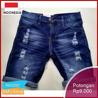 NAG207 Celana Pendek Pria Jeans Sobek Sobek Murah Bmgshop