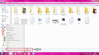 Cara Membuwat folder di win7
