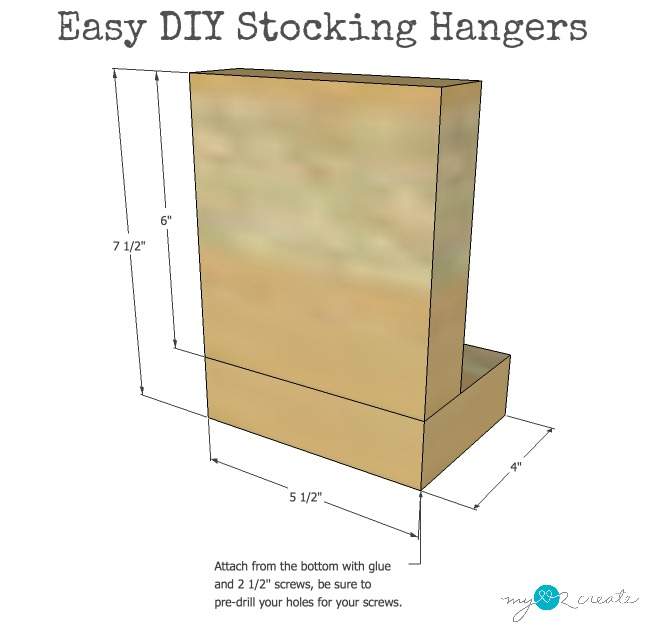 plans for easy DIY Stocking Hangers