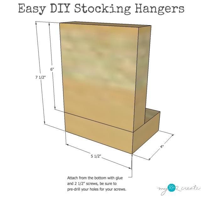 plans for easy DIY Stocking Hangers