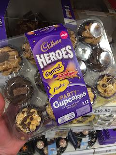 Cadbury Heroes Party Cupcakes