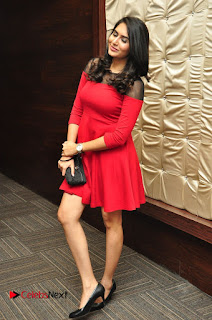 Vyoma Nandi Pictures in Red Short Dress at Marala Telupana Priya Audio Launch
