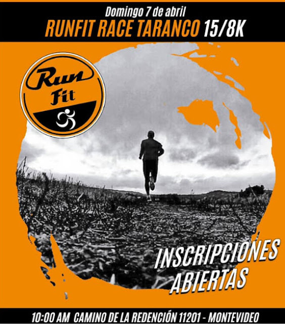 15k y 8k Runfit Race Taranco (trail run, Montevideo, 07/abr/2019)