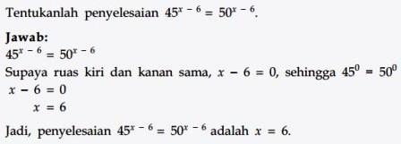 Persamaan Eksponen