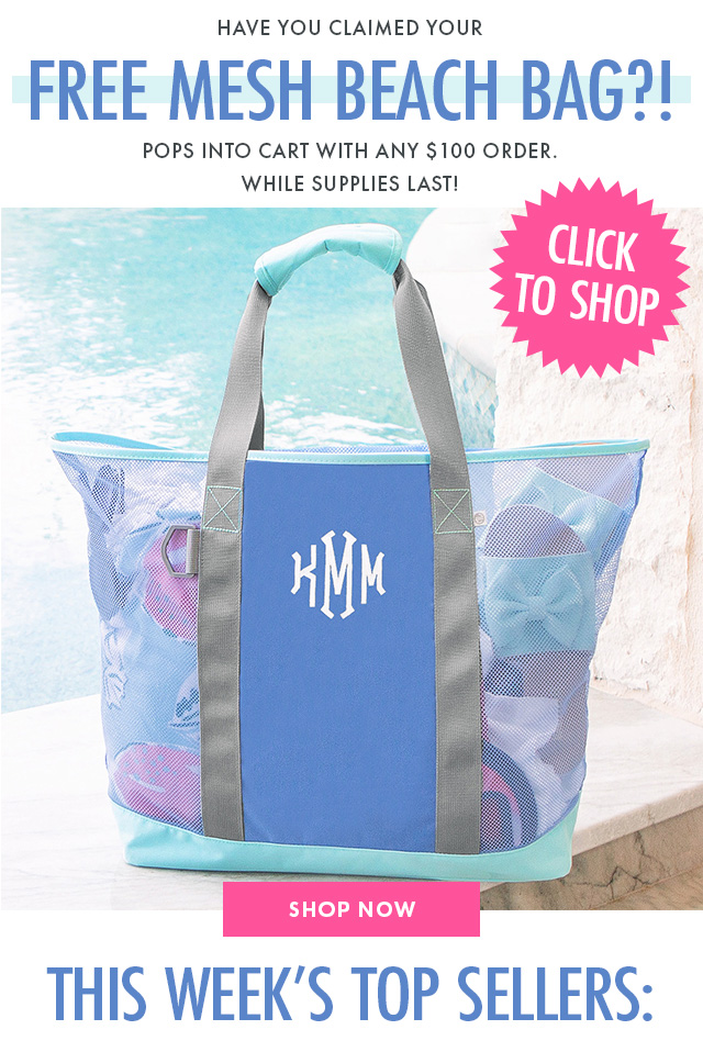free mesh beach bag from marleylilly.com