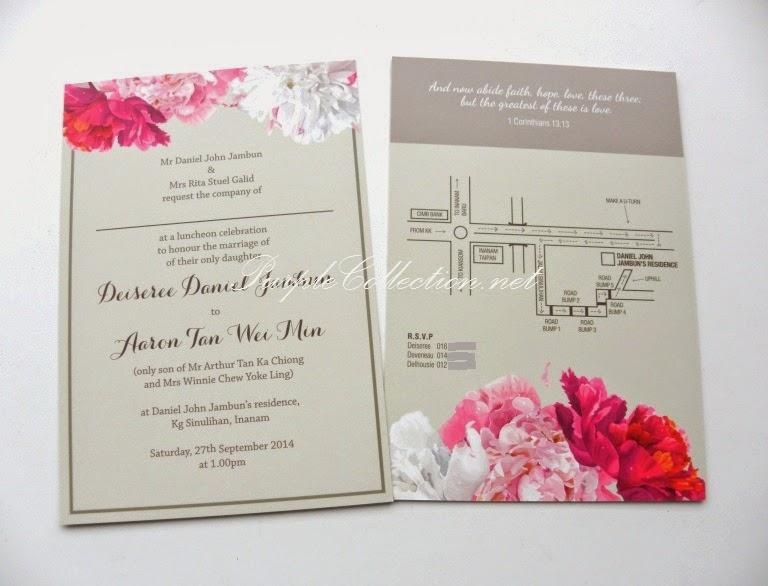 Malay wedding invitation cards singapore wedding fl wedding invitation card stopboris Gallery