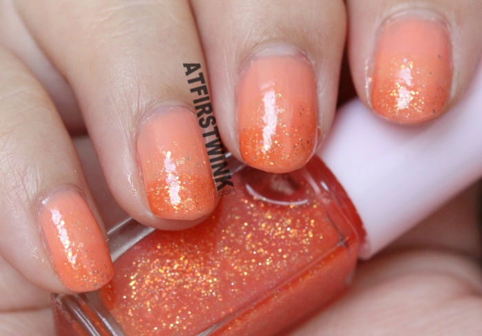 Etude House Juicy Cocktail gradation nails #1 Screw Driver nail polish 3 Fresh Orange