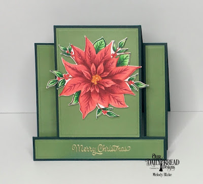 Our Daily Bread Designs Stamp/Die Duos: Merry Christmas, Custom Dies: Center Step Card, Center Step Card Layers, Christmas 2018