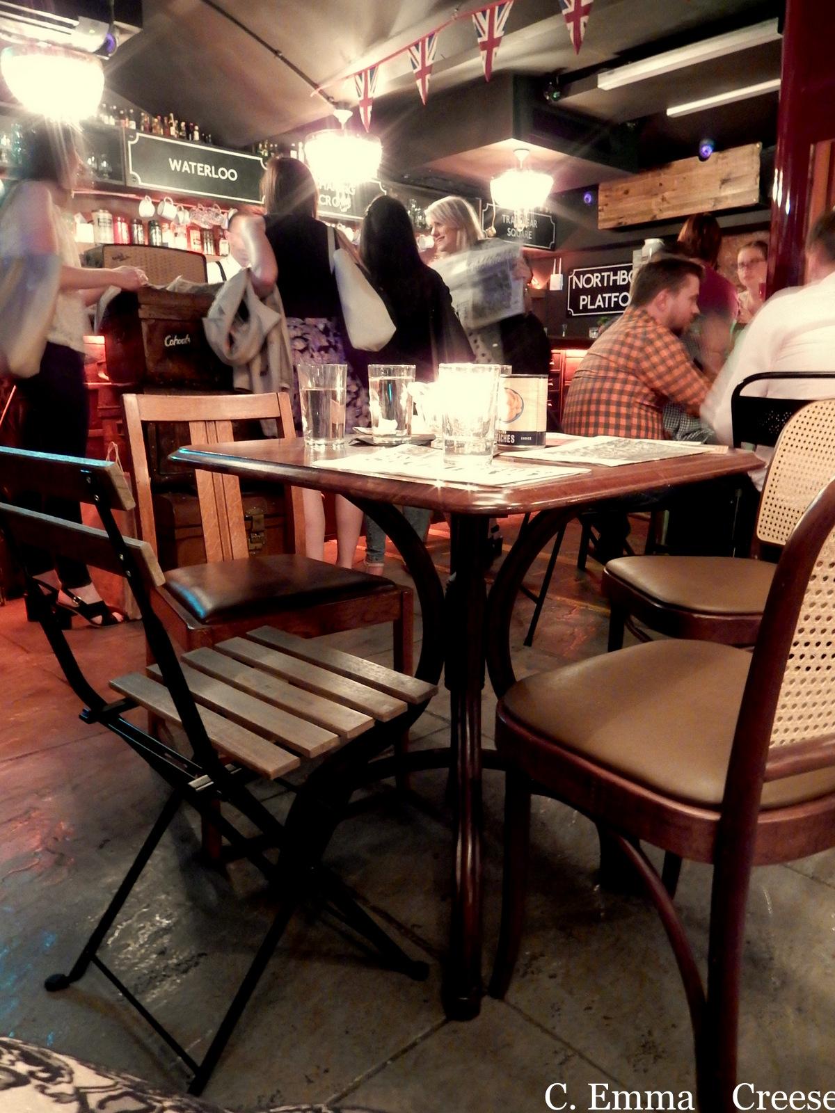Cahoots, an Underground London Cocktail bar