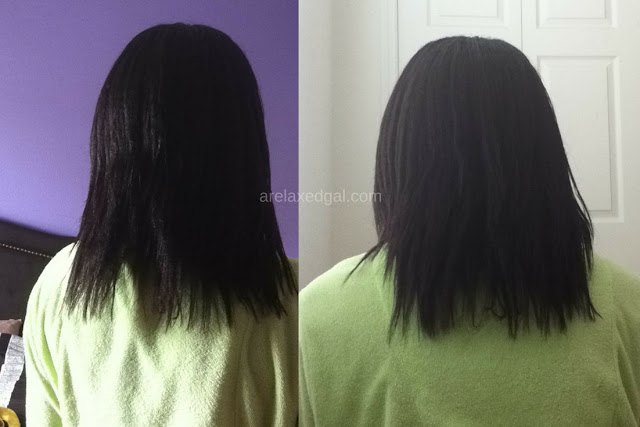 I decided to air dry my hair at 2 weeks post relaxer touch up. See the results. | arelaxedgal.com