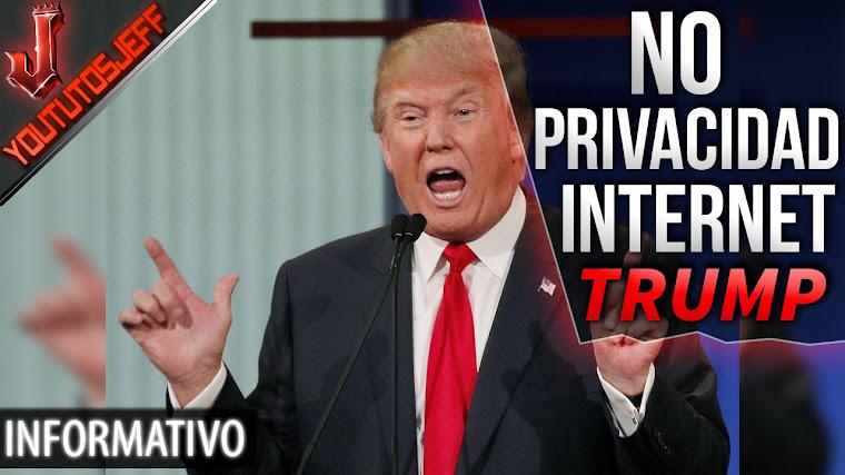 Donald Trump dice que no a la privacidad de los usuarios en internet