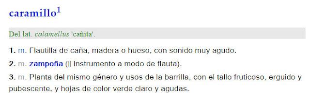 Caramillo - definición