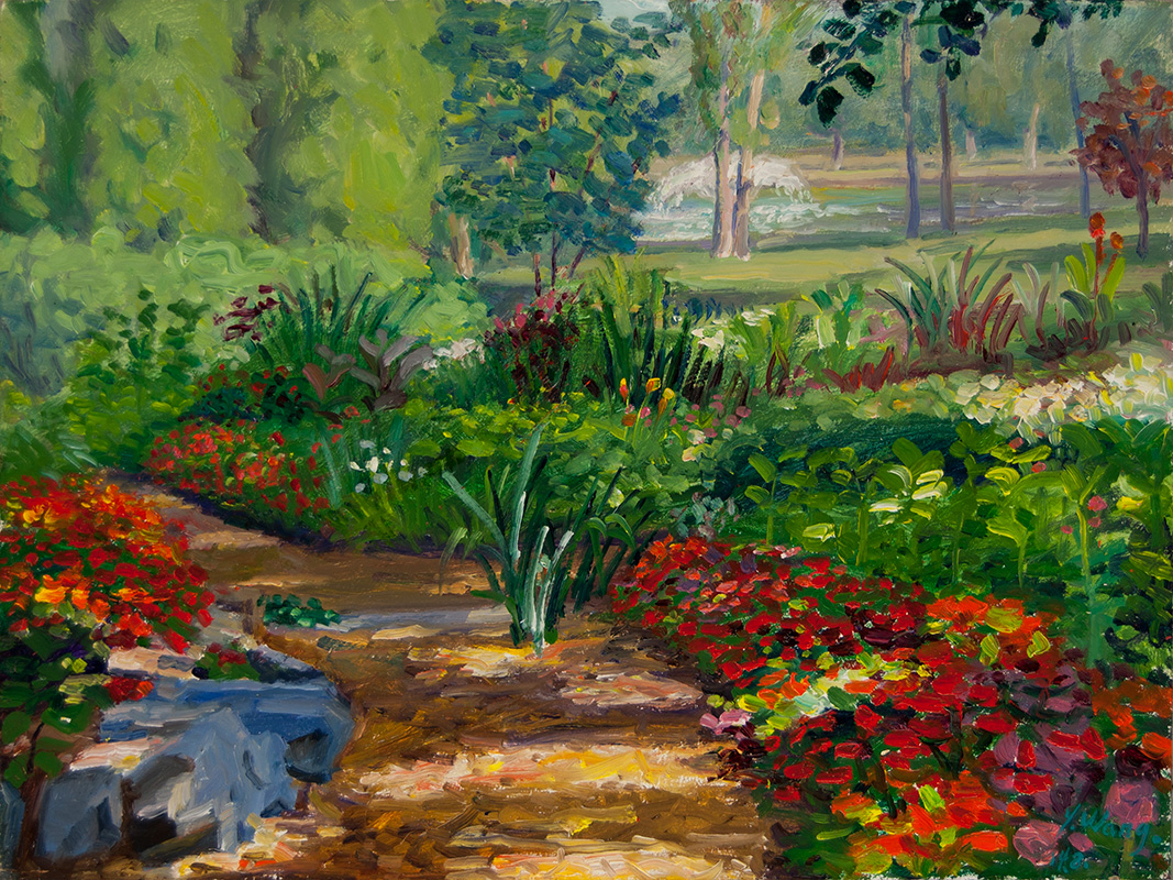 Flower Garden Paintings - Frasesdeconquista.com
