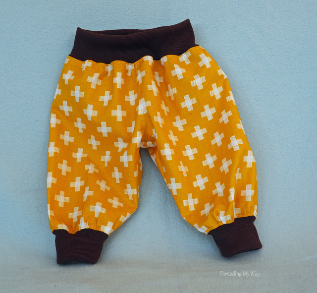 Choo Choo Baby Pants ~ Puperita Patterns Showcase ~ Threading My Way