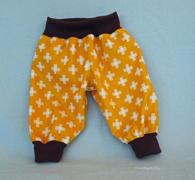 Choo Choo Baby Pants ~ Puperita Patterns Showcase ~ Threading My Way