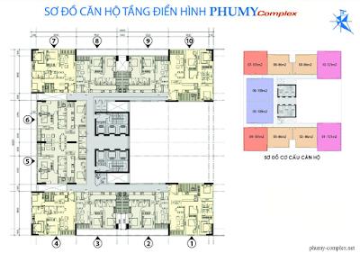 Mặt bằng điển hình dự án Phú Mỹ Ngoại Giao Đoàn