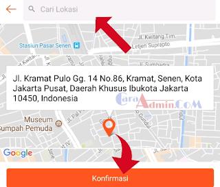 Lokasi Map Alamat Toko Akun shopee.id