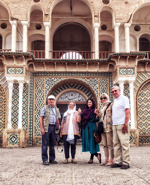 Tourists visiting Shahzadeh Garden in Kerman