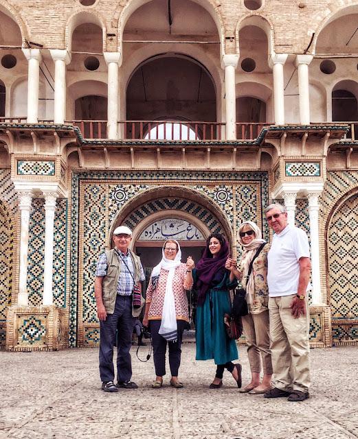 Tourists visiting Shahzadeh Garden in Kerman