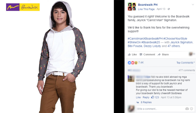 Igorot hunk:Carrot Man is The Newest Boardwalk Model
