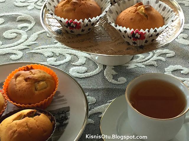 Kayısılı, İncirli, Muffin, Tarifi, Tarifleri, incirli tarifler, Çay, Kahve, İkram, Kek, Kişniş