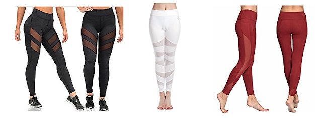 Sheer Panel Mesh Legging