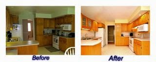 Staged kitchen before and after pictures