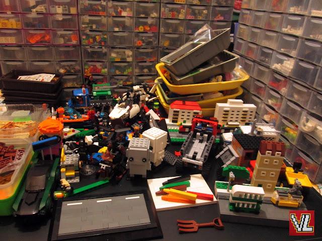 Arrumações de peças de LEGO