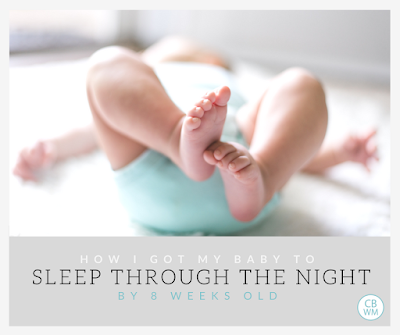 How I Got My Baby To Sleep 9 Hours by 8 Weeks Old | baby sleep | sleeping through the night | #babysleep