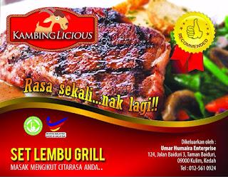 kambinglicious set lembu grill