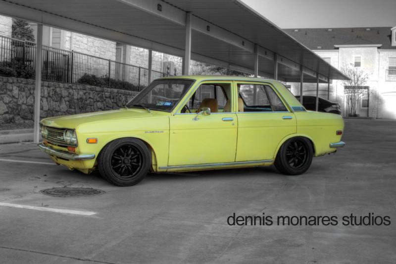 Daily Turismo: 5k: Banana Yellow Bluebird: 1972 Datsun 510 w