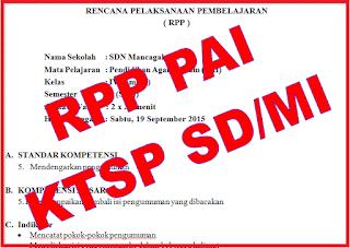 RPP PAI KTSP SD/MI Kelas I - VI
