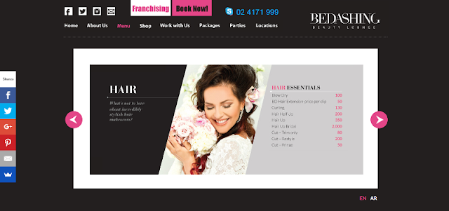 renowned beauty and styling salon in Abu Dhabi