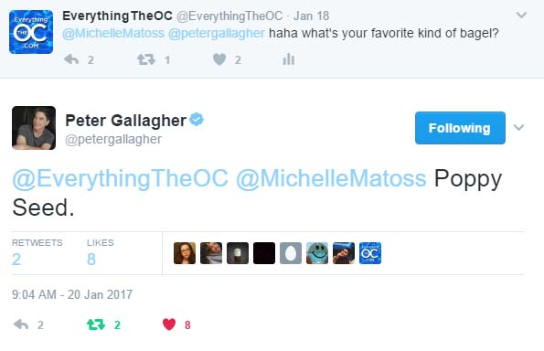 Peter Gallagher tweets The O.C.