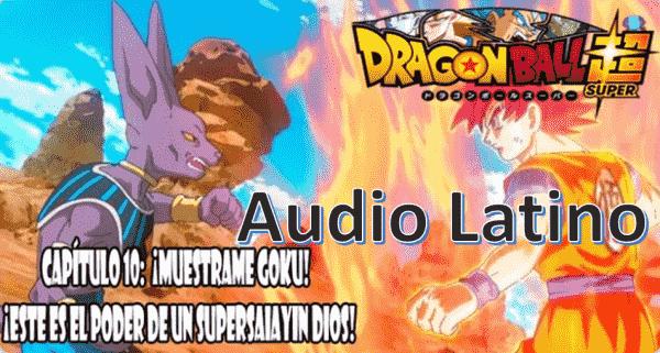 Ver capitulo 10 en audio Latino online gratis por internet, comienza la pelea entre dioses, con ventaja para Bills, ya que Goku aún no domina el poder del Dios Super Saiyajin rojo.