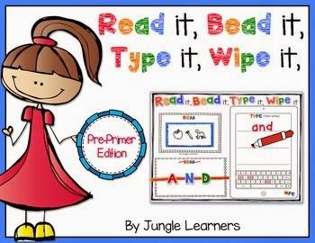 https://www.teacherspayteachers.com/Product/Read-it-Bead-it-Type-it-Wipe-it-Pre-Primer-Sight-Word-Edition-1440272