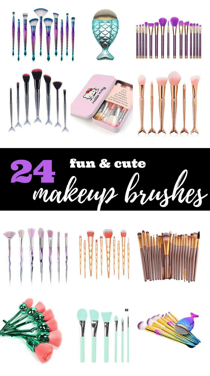 24 Cute & Fun Makeup Brush Sets from Amazon