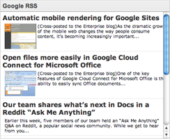 Web Design with Google Sites: RSS Feed for Google Sites!