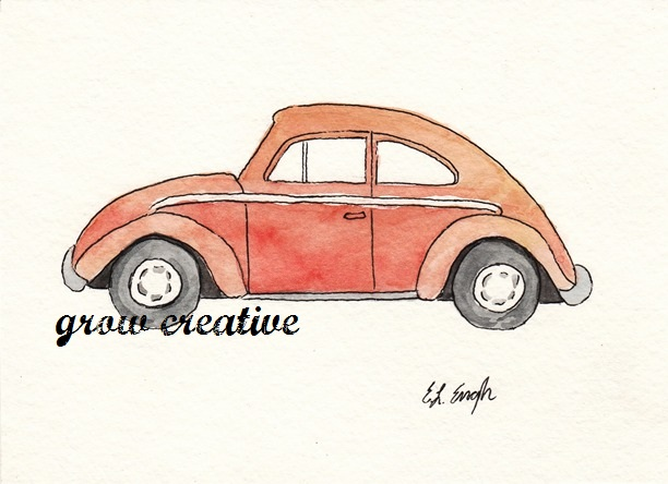 Watercolor Volkswagen