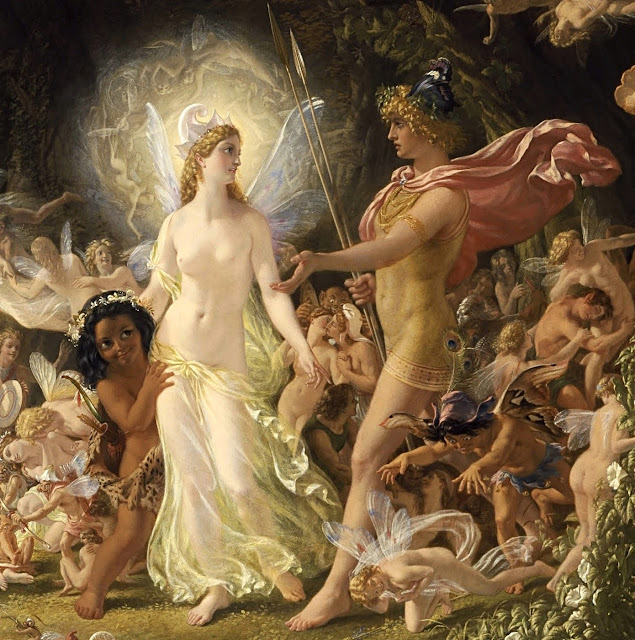 Joseph Noel Paton - La disputa di Oberon e Titania (dettaglio)