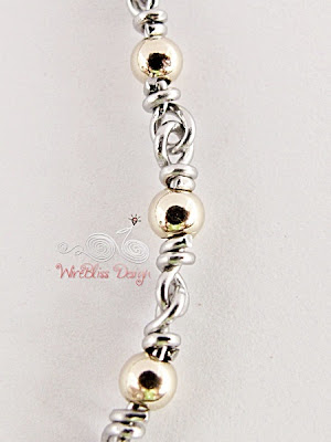 Wire wrapped Minima Bracelet (Minlet) with goldfilled beads @WireBliss