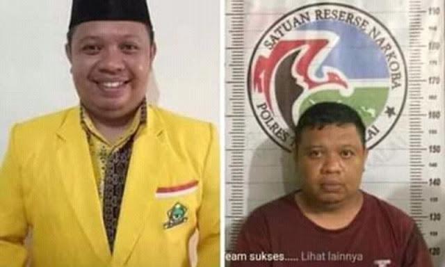 Nekat Bawa 15 Kg Sabu, Oknum Ketua Golkar Diciduk Polres Tanjung Balai