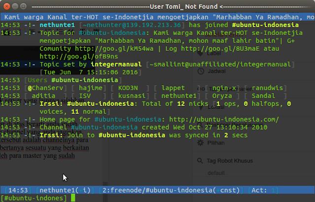cara mudah chattingan di terminal linux
