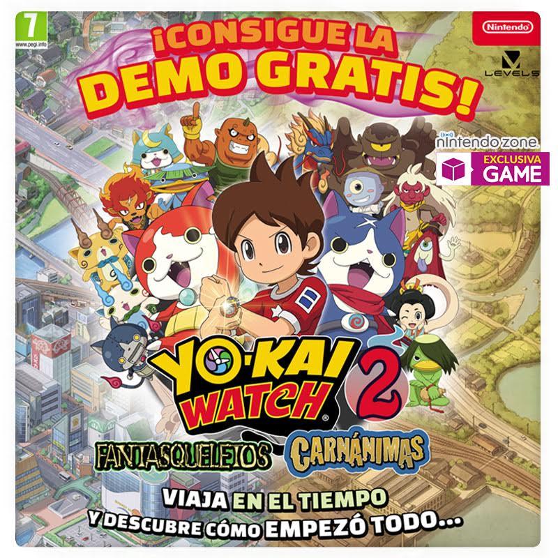 Consigue en GAME la demo de Yo-Kai Watch 2 Fantasqueletos y Carnánimas