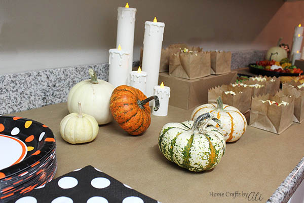 decor and paper party supplies for girls night halloween party