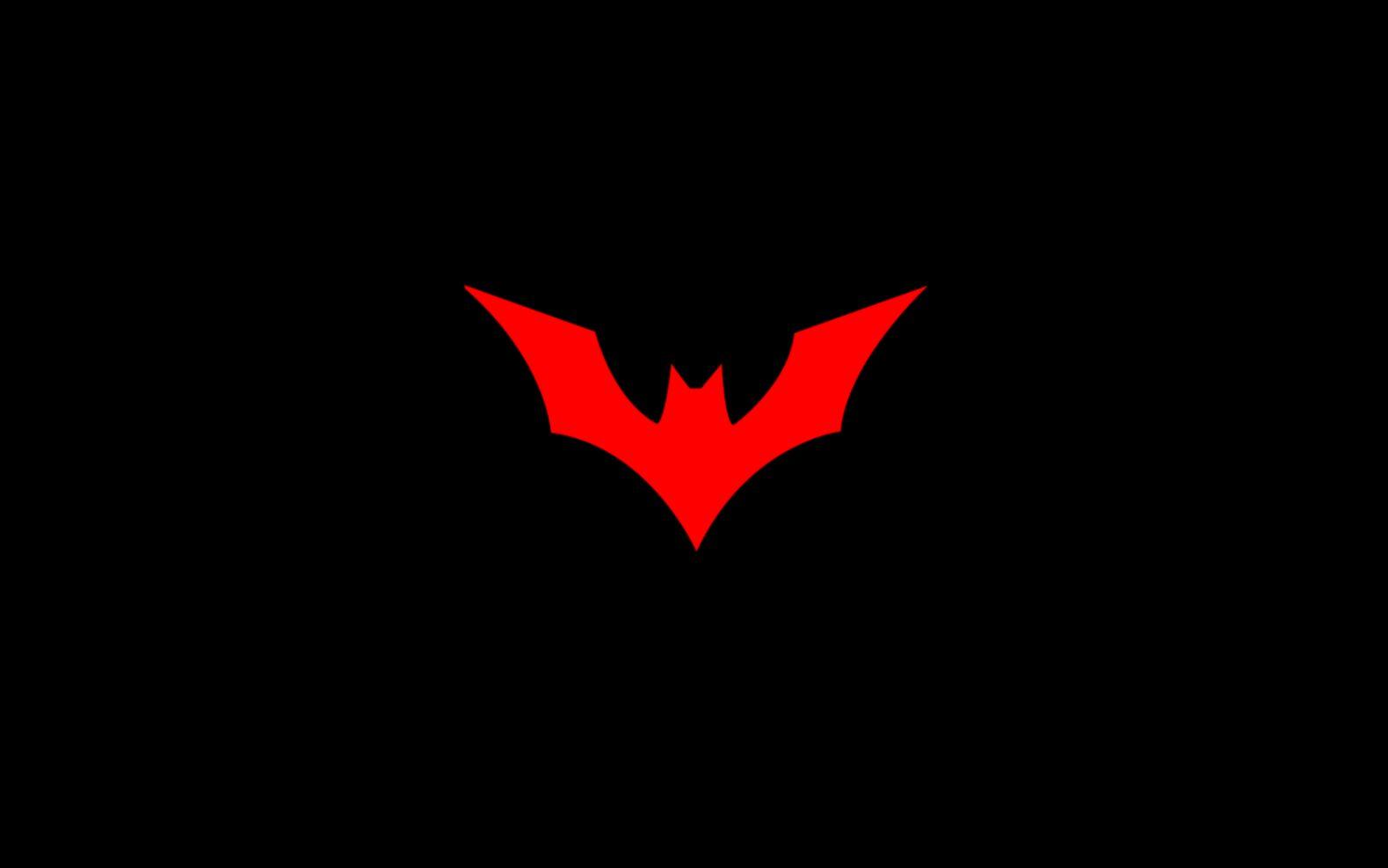 Cool Minimalist Batman Logo Wallpaper In Black And Red PaperPull