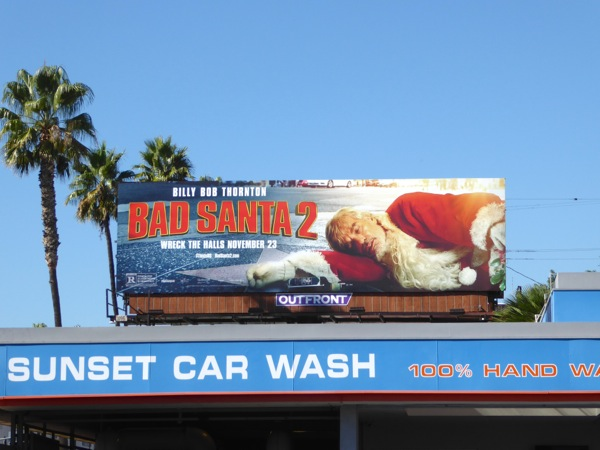 Bad Santa 2 film billboard
