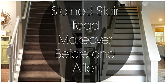 Stained Stair Treads: Before and After